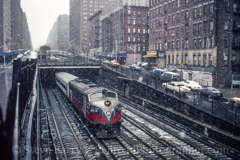 Photo 5198<br /> Metro North<br /> Manhattan, New York<br /> April 1991
