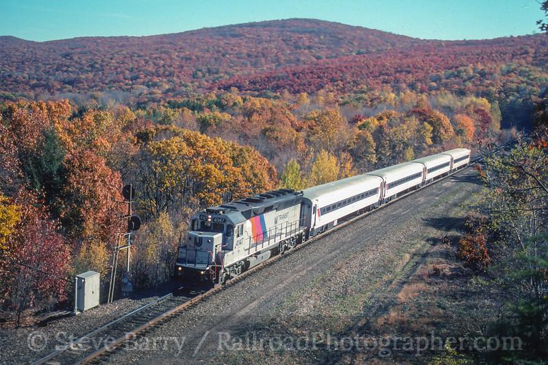 Photo 4087<br /> New Jersey Transit; Black Rock Cut, Port Jervis, New York<br /> October 1999