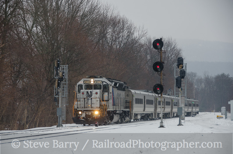 Photo 3301<br /> Metro North/New Jersey Transit; Port Jervis, New York<br /> February 8, 2015