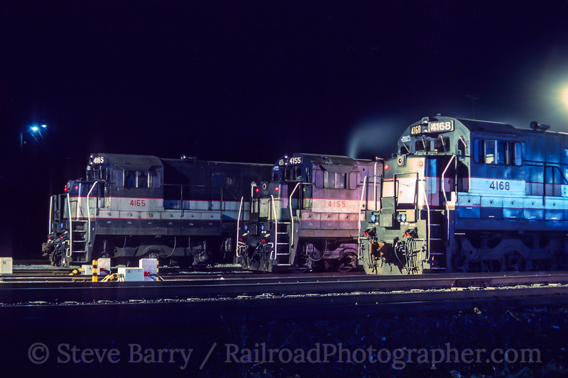Photo 4528<br /> New Jersey Transit<br /> Port Jervis, New York<br /> November 1987