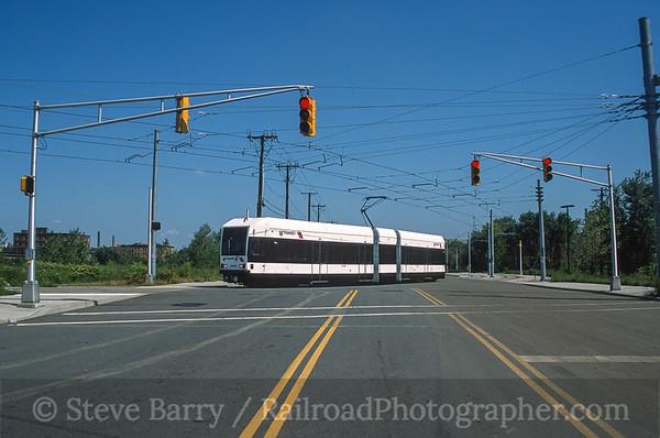 Photo 3584 Hudson Bergen Light Rail; Jersey Avenue, Jersey City, New Jersey August 2001