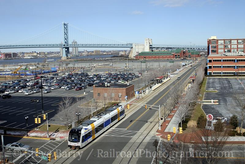 Photo 0114<br /> RiverLine (NJ Transit); Camden, New Jersey<br /> February 4, 2007