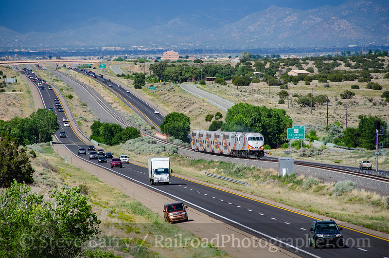 Photo 3879<br /> New Mexico Rail Runner; La Cienga, New Mexico<br /> July 15, 2016