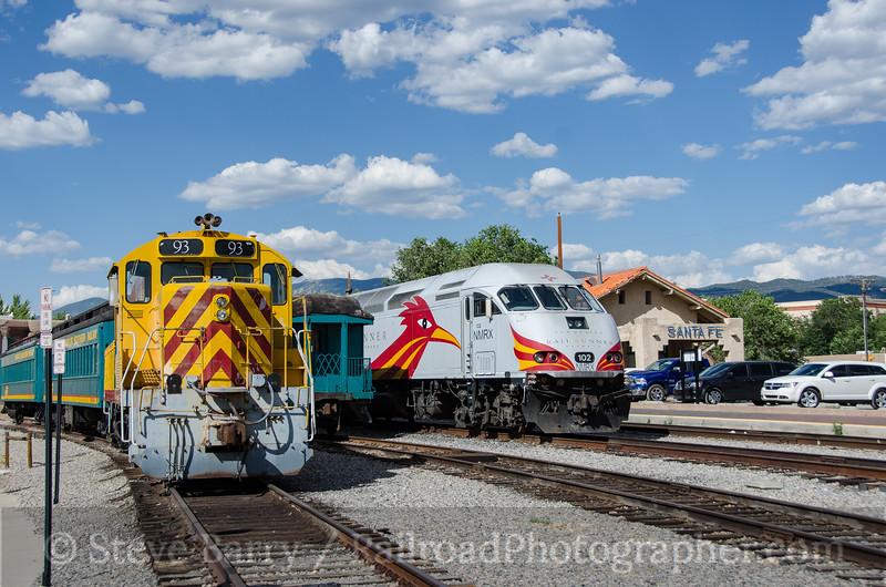 Photo 3884<br /> Santa Fe Southern and New Mexico Rail Runner; Santa Fe, New Mexico<br /> July 16, 2016