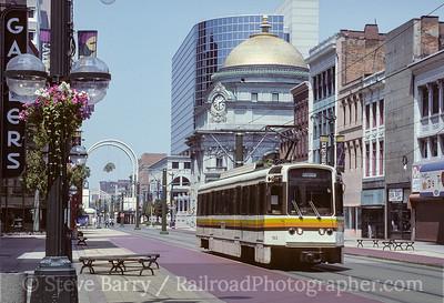 Photo 3592 Niagara Frontier Transportation Authority; Main & Huron, Buffalo, New York July 1993