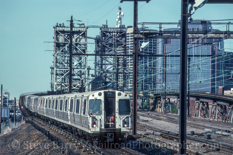 Photo 5019<br /> Port Authority Trans Hudson<br /> Harrison, New Jersey<br /> May 1993