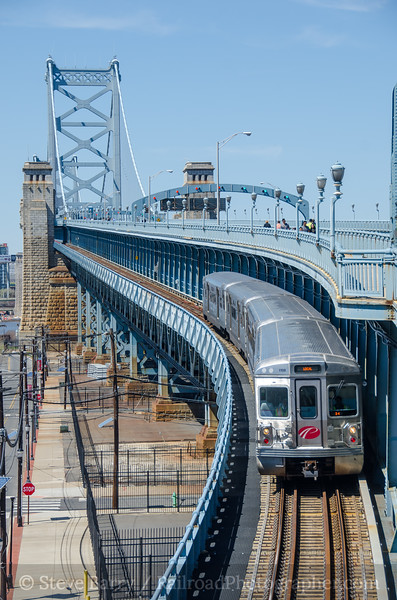 Photo 4063<br /> Port Authority Transit Corporation; Benjamin Franklin Bridge, Camden, New Jersey<br /> April 9, 2017