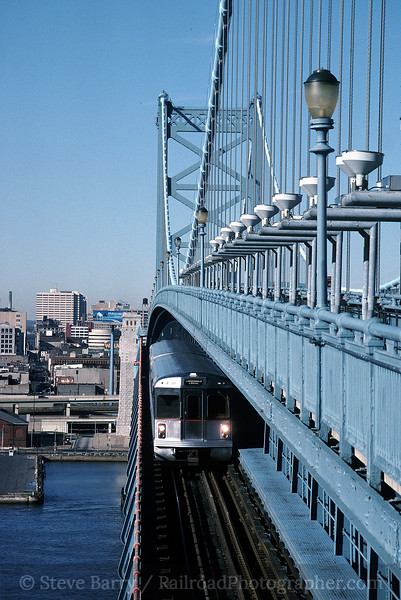 Photo 0697<br /> Port Authority Transit Corporation; Benjamin Franklin Bridge, Camden, New Jersey<br /> December 26, 1994