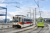 Photo 3715<br /> TriMet MAX and Portland Streetcar; Tilikum Crossing, Portland, Oregon<br /> March 22, 2016