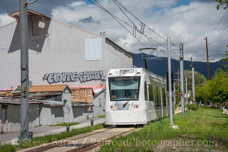 Photo 5558<br /> S Line (UTA)<br /> 500 East, Salt Lake City, Utah<br /> May 8, 2019