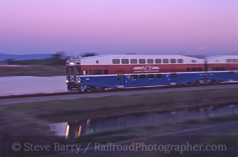 Photo 0001<br /> Altamont Commuter Express; Alviso, California<br /> March 2004