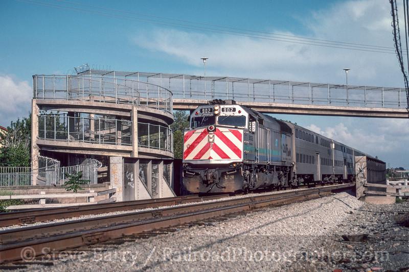 Photo 2998<br /> Caltrain; Santa Clara, California<br /> May 1991