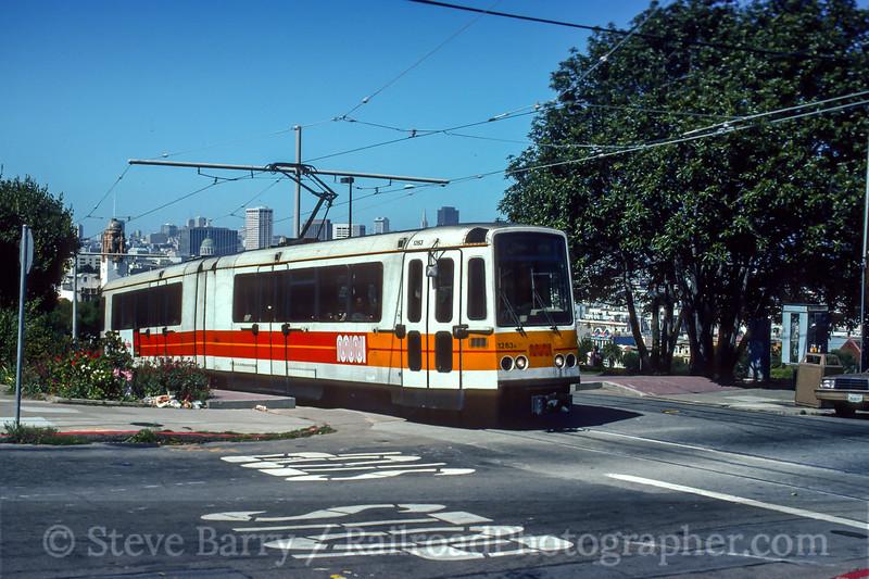 Photo 5169<br /> Muni<br /> Mission Dolores Park, San Francisco, California<br /> July 23, 1992