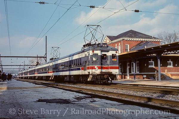 Photo 3783 Southeastern Pennsylvania Transportation Authority: West Trenton, New Jersey April 1990