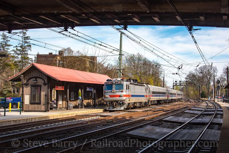 Photo 4652<br /> Amtrak<br /> Overbrook, Philadelphia, Pennsylvania<br /> April 23, 2018