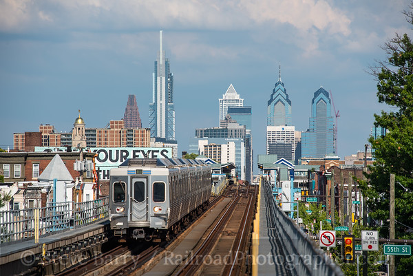 Photo 5112 Market-Frankford Subway-Elevated (SEPTA) 56th Street, Philadelphia, Pennsylvania July 28, 2018