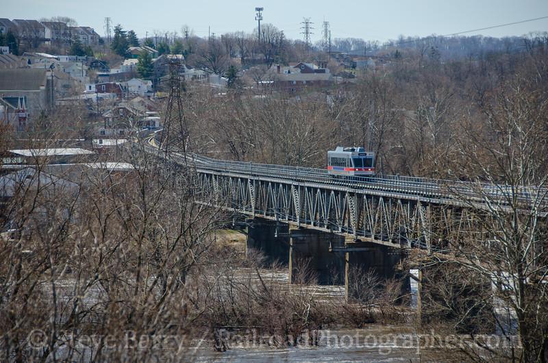 Photo 4055<br /> Norristown High Speed Line (SEPTA); Norristown, Pennsylvania<br /> April 2, 2017