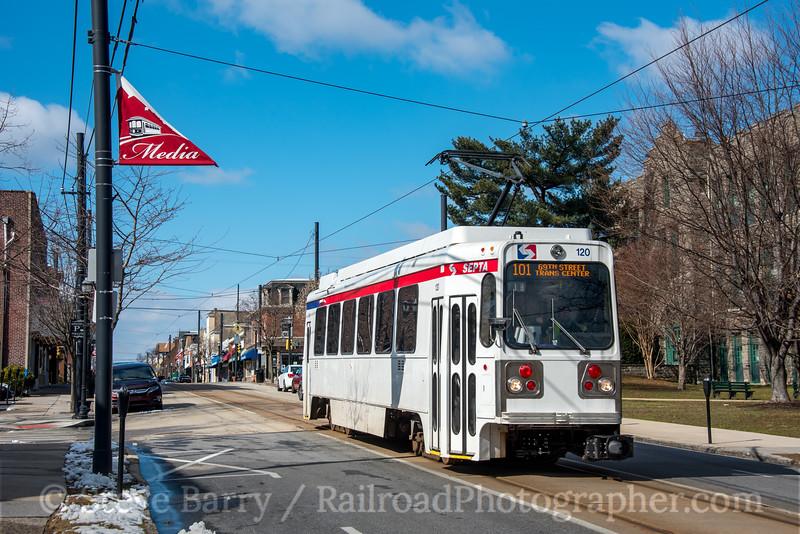 Photo 4580<br /> Southeastern Pennsylvania Transportation Authority<br /> Media, Pennsylvania<br /> February 18, 2017