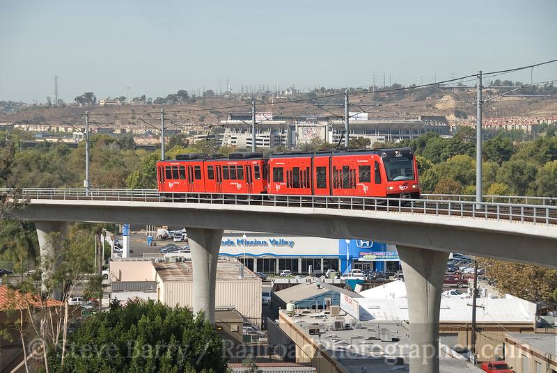 Photo 1689<br /> San Diego Trolley; Grantville, California<br /> October 29, 2009