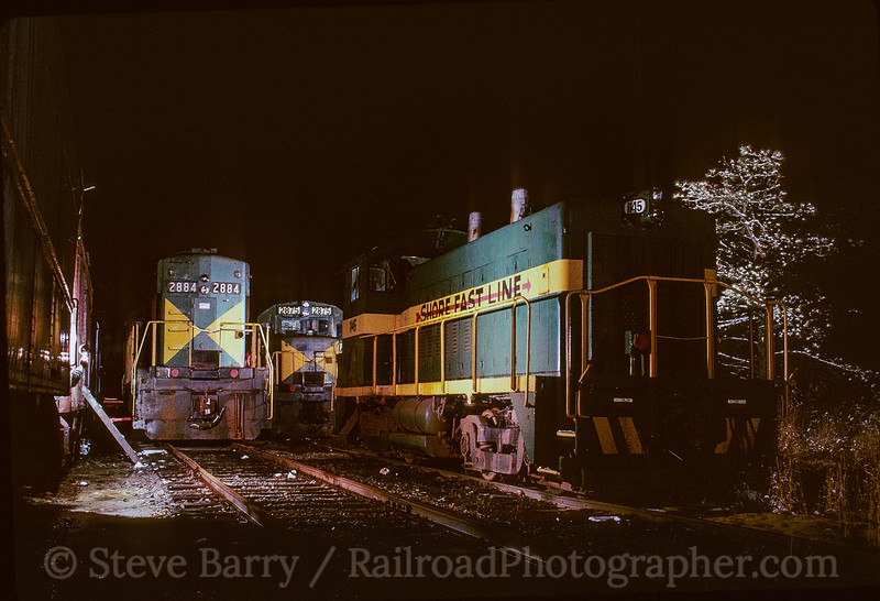 Photo 5078<br /> Shore Fast Line<br /> Winslow Junction, New Jersey<br /> April 1990