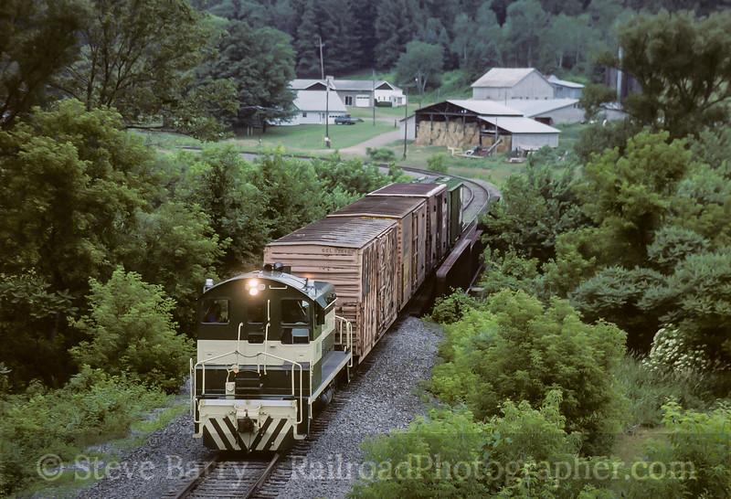 Photo 4126<br /> Wellsboro & Corning; Lawrenceville, Pennsylvania<br /> July 1993