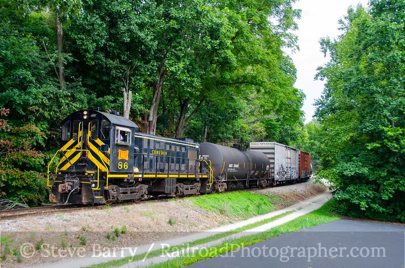 Photo 3451<br /> Louisville, New Albany & Corydon; Corydon, Indiana<br /> August 10, 2015