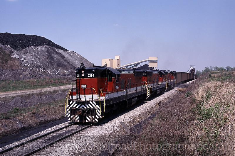 Photo 1550<br /> Algers, Winslow & Western (Indiana Southern); Buckskin, Indiana
