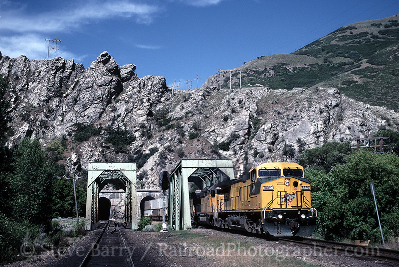 Photo 0556<br /> Union Pacific; Weber Canyon, Taggarts, Utah<br /> June 27, 1997