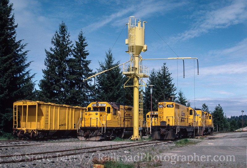 Photo 2952<br /> Chehalis Western; Western Junction, Washington<br /> May 17, 1986