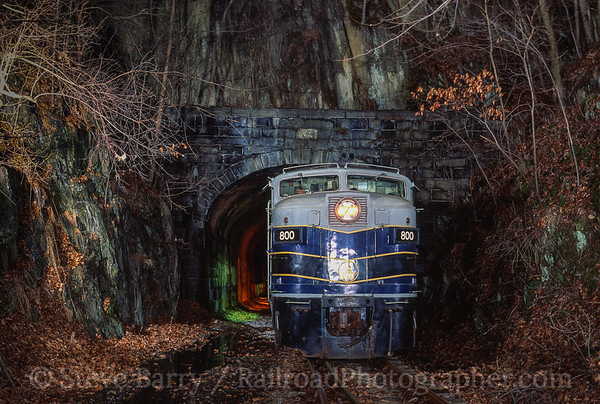 Photo 3765 Northern Central; Howard Tunnel, Seven Valleys, Pennsylvania February 1, 1997
