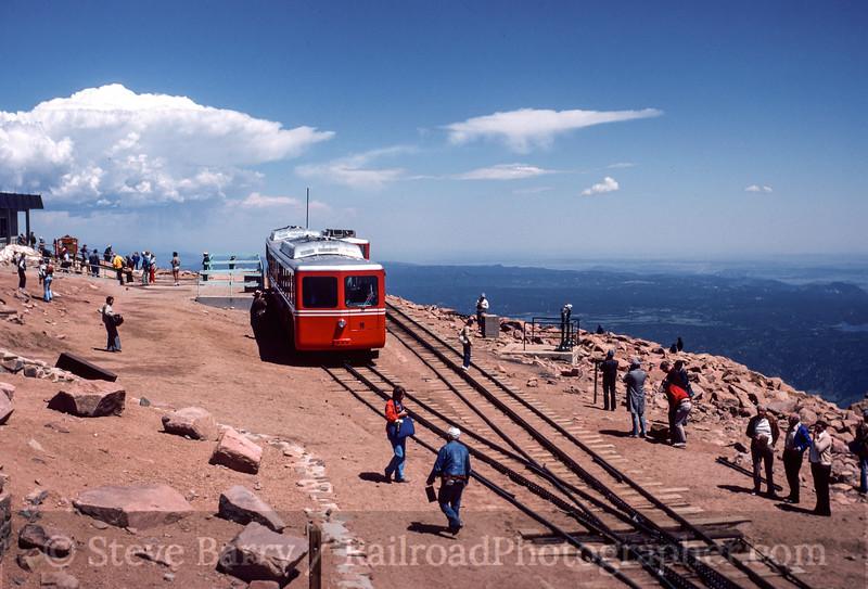 Photo 3131<br /> Manitou & Pikes Peak; Pikes Peak, Colorado<br /> July 1982