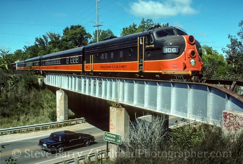 Photo 4474<br /> Wisconsin & Calumet<br /> Walworth, Wisconsin<br /> October 1990