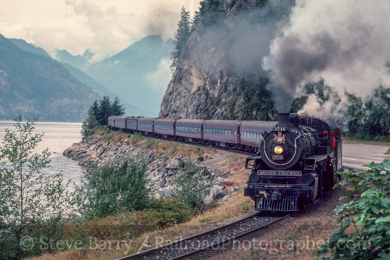 Photo 2995<br /> BC Rail; Porteau, British Columbia<br /> September 1988