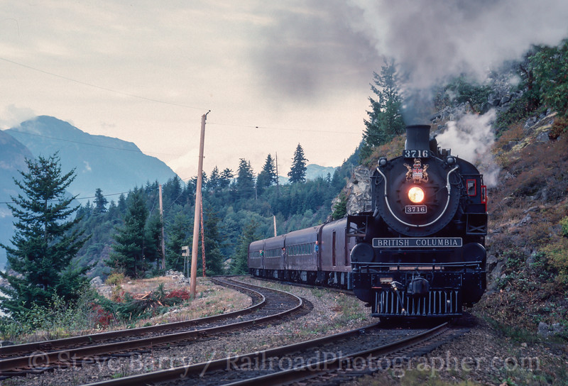 Photo 2954<br /> BC Rail; Porteau, British Columbia<br /> September 1988