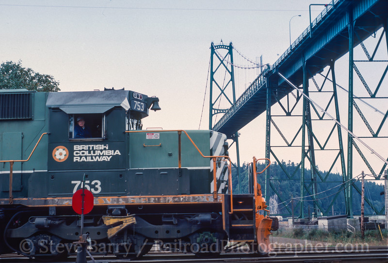 Photo 2942<br /> BC Rail; North Vancouver, British Columbia<br /> September 1988