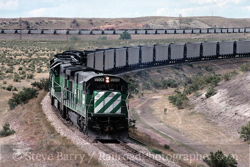 Photo 0065<br /> Burlington Northern; Antelope, Wyoming<br /> September 1994