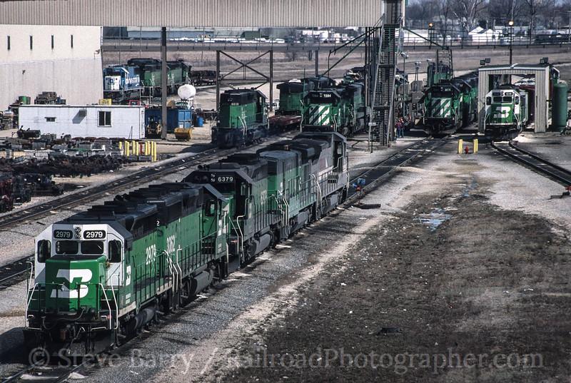 Burlington Northern; Galesburg IL; 4/4/93