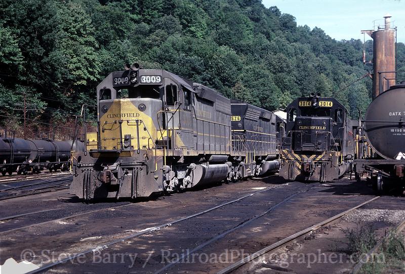 Photo 0109<br /> Carolina, Clinchfield & Ohio; Dante, Virginia<br /> September 1982