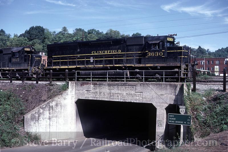 Photo 0110<br /> Carolina, Clinchfield & Ohio; St. Paul, Virginia<br /> September 1982