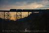 Photo 4418<br /> Clinchfield Santa Train<br /> Copper Creek Viaduct, Speers Ferry, Virginia<br /> November 17, 2017