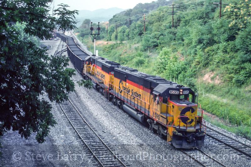 Photo 5228<br /> CSX Transportation<br /> Mexico Farms, Cumberland, Maryland<br /> July 1991
