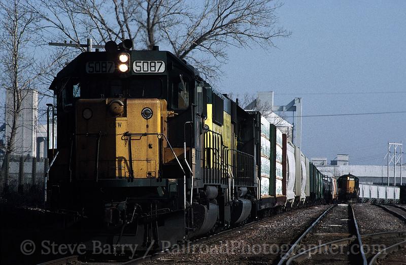 Photo 0137<br /> Chicago & North Western; Mason City, Iowa<br /> April 5, 1993