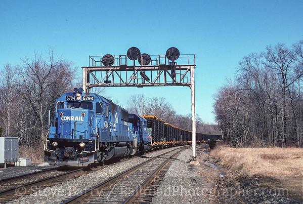Photo 3768  Conrail; McElhattan, Pennsylvania February 25, 1997
