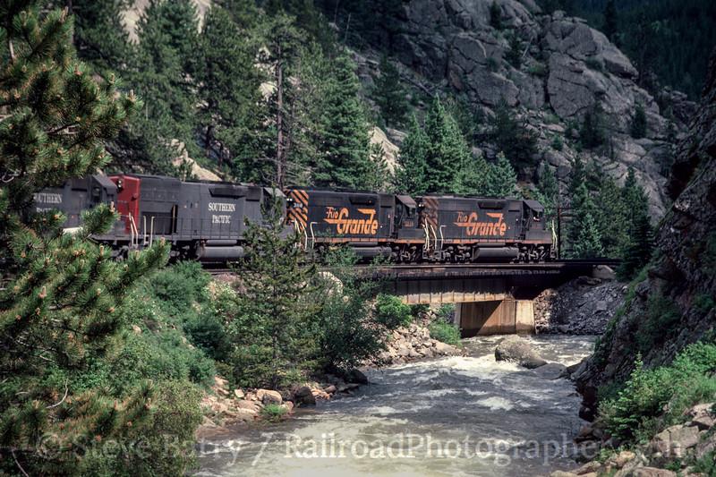 Photo 2987 Denver & Rio Grande Western; Pinecliffe, Colorado June 1988