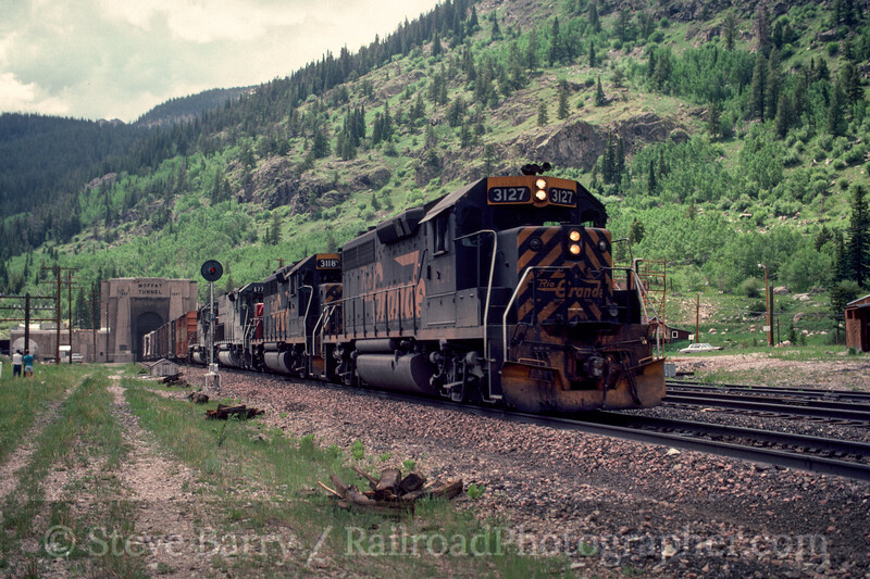 Photo 2978 Denver & Rio Grande Western; Moffatt Tunnel, Rollinsville, Colorado June 1988