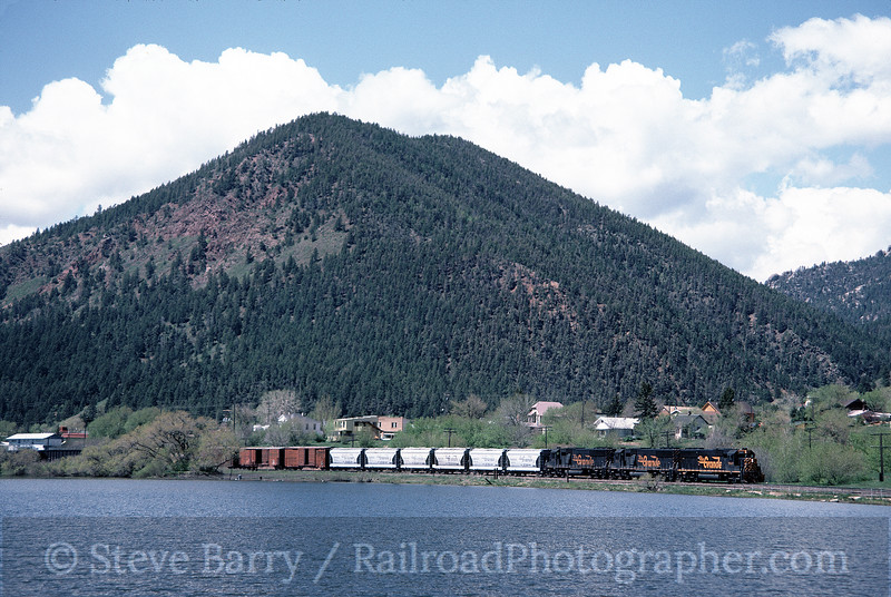Photo 1437<br /> Denver & Rio Grande Western; Palmer Lake, Colorado<br /> May 1985