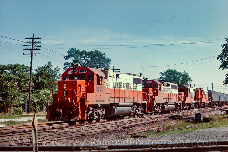 Illinois Central Gulf; Effingham IL; 7/1989