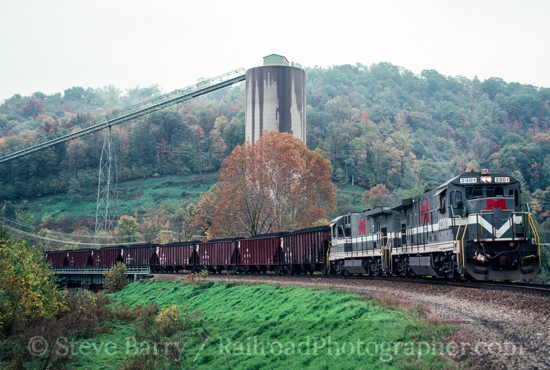 Photo 1984 Monongahela; Waynesburg, Pennsylvania October 1990