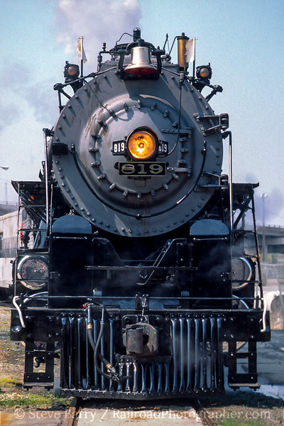 Photo 5044<br /> Cotton Belt 819<br /> Pine Bluff, Arkansas<br /> March 1993