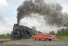 Photo 1683<br /> Nickel Plate Road 765; Owosso, Michigan<br /> August 29, 2009